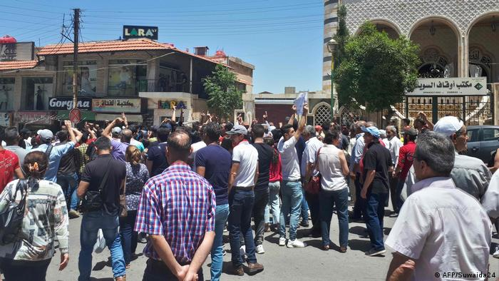 Syrien Wirtschaftskrise Protest (AFP/Suwaida24)