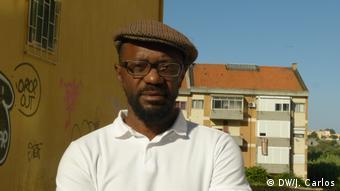 Portugal Lissabon   Aristóles Kandimba - Aktivist aus Angola und Koordinator der Onlineplatform Afro-Seixalense
