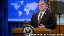 Secretary of State Mike Pompeo speaks during a news conference at the State Department in Washington, Wednesday, June 10, 2020. (AP Photo/Andrew Harnik, Pool) |