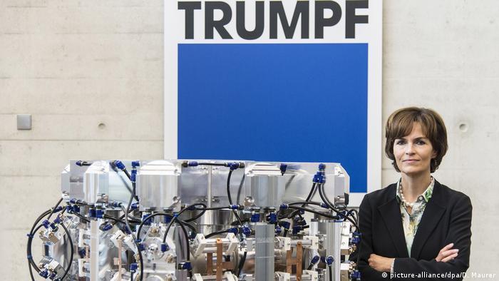 نیکلا لایبینگر – کاممولر رئیس هیئت مدیره کمپانی ترومپ است که در زمینه ساخت ماشین ابزار و ماشین آلات برش لیزری، جوشکاری لیزری، حکاکی لیزری، دستگاههای پانچ هیدرولیکی ، دستگاه های خمکاری ورق و سیستمهای اتوماسیون کارخانجات فعالیت میکند. این کمپانی بیش از ۷۰ شرکت تابعه با ۱۴ هزار و ۳۰۰ کارگر دارد. درآمد سالانه این کمپانی ۳ میلیارد و ۵۰۰ میلیون یورو است.