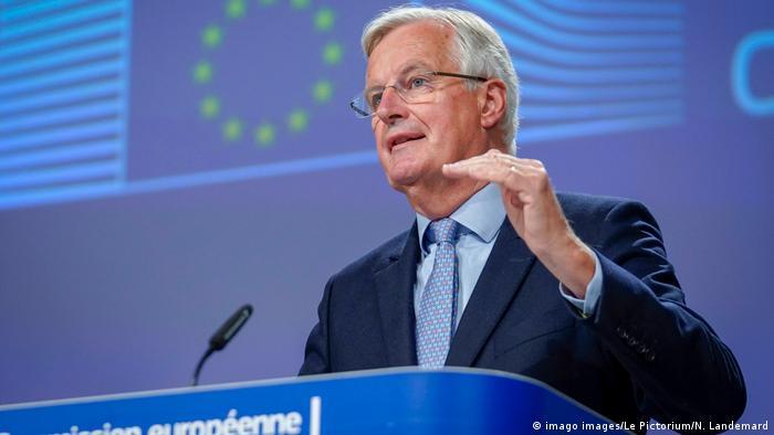EU-Verhandlungsführer Michel Barnier (imago images/Le Pictorium/N. Landemard)