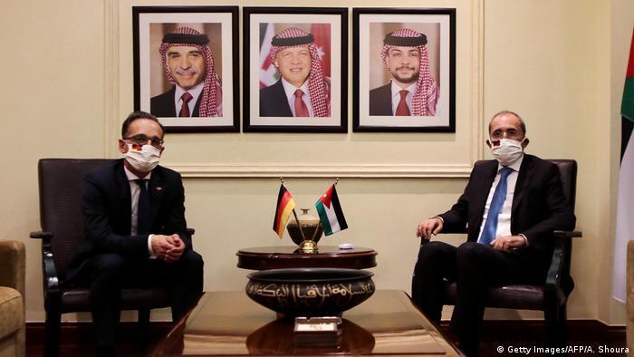 وزير الخارجية الألماني هايكو ماس مع نظيره الأردني أيمن الصفدي (عمان العاشر من يونيو/ تموز 2020)