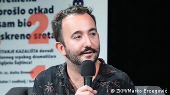 Schriftsteller und Moderator Srdjan Sandic aus Kroatien