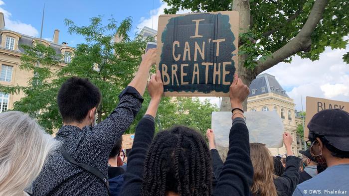 Paris: protests for George Floyd and Black Lives Matter