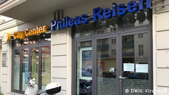 Exterior view travel agency Phileas in Berlin, Germany(DW/A. Kirchhoff)