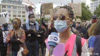 Belgien   Brüssel   Anti-Rassimus-Demo   Organisatorin Brendä Auchimba