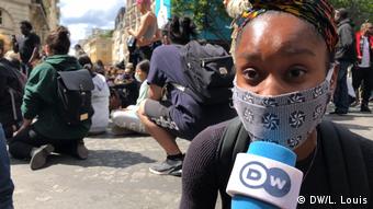Frankreich Anti-Rassismus Demo   Jurastudentin Kesiah Etame Yescot