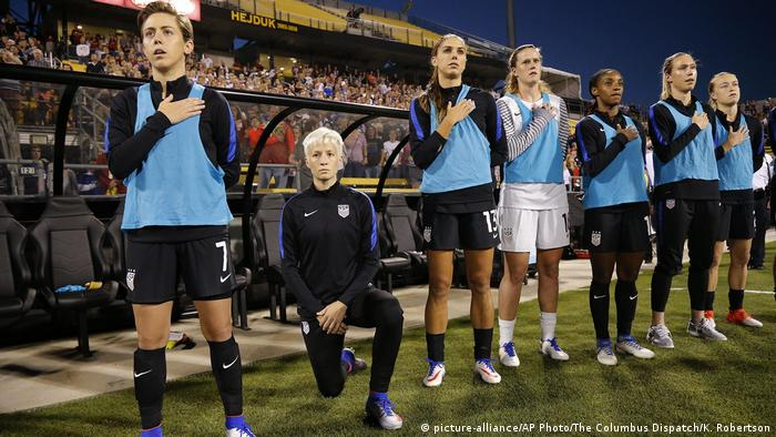 USA Sport & Protest | Megan Rapinoe, 2016 (picture-alliance/AP Photo/The Columbus Dispatch/K. Robertson)