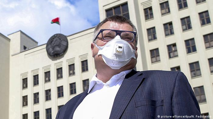 Weißrussland | Präsidentschaftskandidat Wiktor Babariko (picture-alliance/dpa/N. Fedosenko)