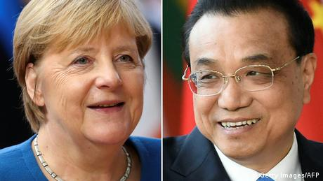 Bildkombo Angela Merkel und Li Keqiang