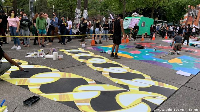 USA Seattle | Polizeifreie Zone Capitol Hill Autonomous Zone (CHAZ) (Reuters/The Stranger/J. Keimig)