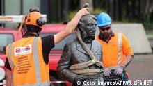 Indien Hamilton | Demontage der Statue von Captain John Fane Charles Hamilton | Protest Rassismus