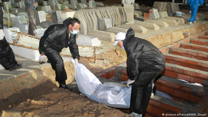 The body of a migrant is buried in Tunisia