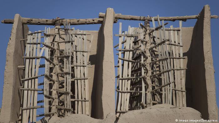 A view of ancient windmills of Nashtifan in Khaf, Razavi Khorasan Province, Iran