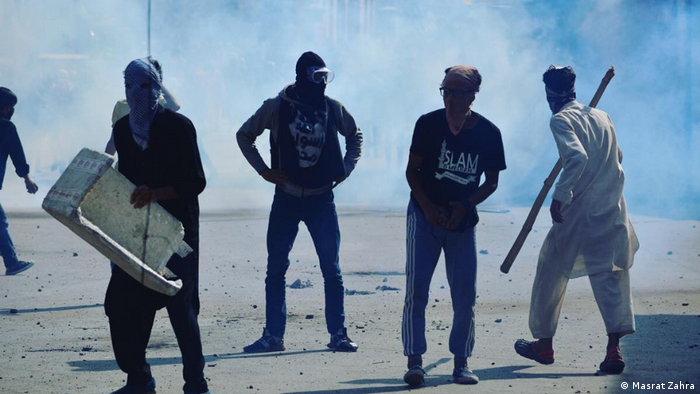 Masrat Zahra captures Kashmir protests in one of her photos