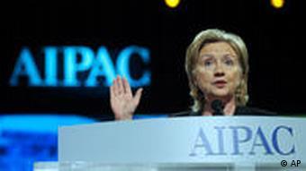 Rede-Gast Hillary Clinton beim AIPAC-Treffen 2010 (Foto: AP)