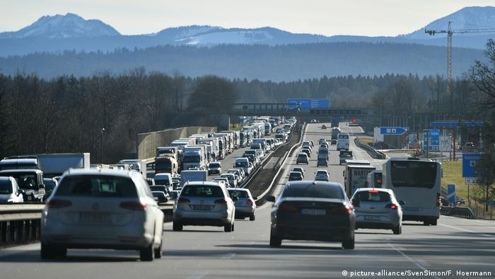 Cars on a German highway