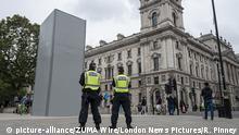 Großbritannien London - Verpackte Churchill Statue