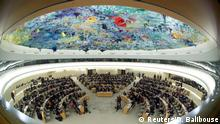FILE PHOTO: Overview of the session of the Human Rights Council during the speech of U.N. High Commissioner for Human Rights Michelle Bachelet at the United Nations in Geneva, Switzerland, February 27, 2020. Picture taken with a fisheye lens. REUTERS/Denis Balibouse/File Photo