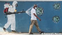 Brasilien Rio de Janeiro Coronavirus Graffiti