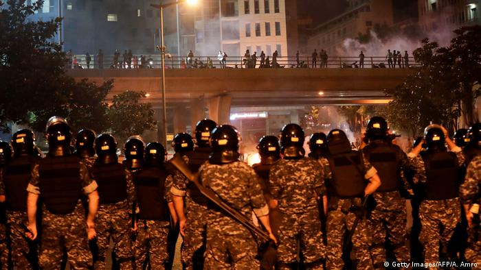 Libanon Proteste in Beirut (Getty Images/AFP/A. Amro)