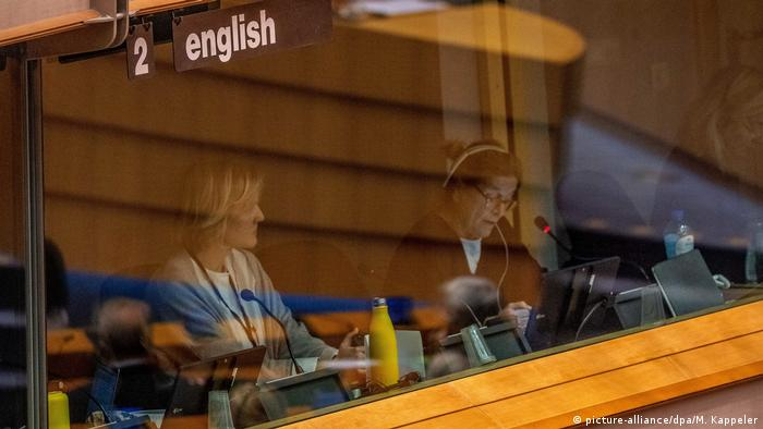 Interpreter at work in the European Parliament