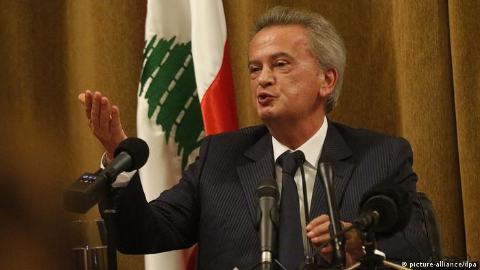 Libanon Beirut 2019 |Riad Salame, Gouverneur der Zentralbank (picture-alliance/dpa)