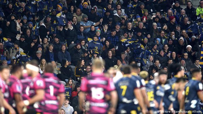 Neuseeland nach der Corona-Pandemie | Rugby in Dunedin (picture-alliance/dpa/J. Allison)