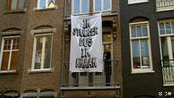 A house in Amsterdam occupied by squatters