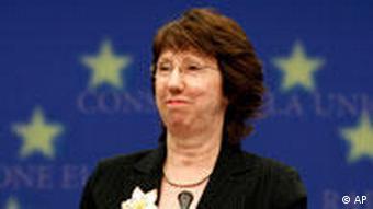 Catherine Ashton Außenministertreffen in Brüssel