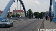 Die Grenzbrücke zwichen Deutschland und Polen in Slubice/Frankfurt Oder ist wieder frei DW, Wojciech Szymański, 13. Juni 2020