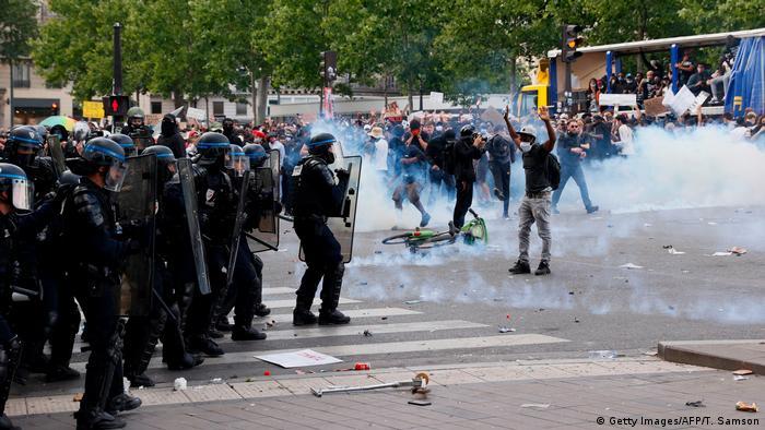 Frankreich Ausschreitungen bei Black Live Matter Protesten (Getty Images/AFP/T. Samson)