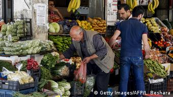 Syrien Damaskus   Wirtschaftskrise   Marktplatz