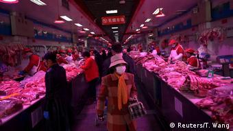 На рынке Синьфади в феврале 2020 года