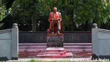 Italien Mailand | Statue von Indro Montanelli | Protest gegen Rassismus