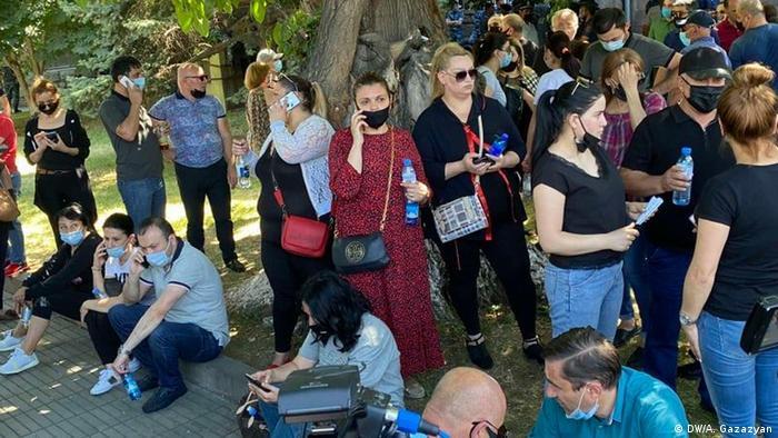 Демонстрация сторонников Процветающей Армении
