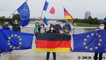 Protesters demonstrate against COVID-19 border closures in Kehl, Germany, and Strasbourg, France
