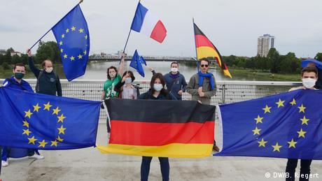 Protest la Kehl și Strasbourg în iunie 2020 față de închiderea granițelor între Franța și Germania