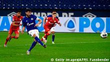 Fußball Bundesliga 31. Spieltag  FC Schalke 04 vs. Bayer 04 Leverkusen   Tor Schalke