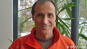 Der deutsche Extrembergsteiger Ralf Dujmovits