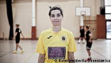 Suzi Andreis, LGBT-Aktivistin in Warschau, Gründerin des lesbischen Fußballvereins Chrzaszczyki Autorin: Emilia Oksentowicz/ kolektyw