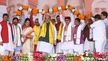 Indien Reale und Virtuelle Politische Kundgebungen