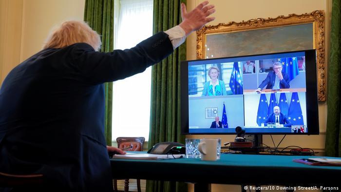 England | Videokonferenz | Von der Leyen und Johnson (Reuters/10 Downing Street/A. Parsons)