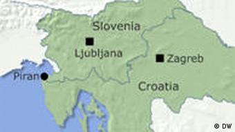 Karte Slowenien Kroatien englisch