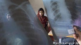 Indian doctor's clinic with x-rays
