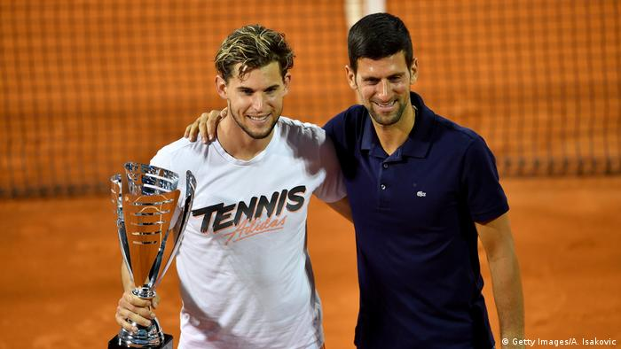 Tennis Adria - Tour Dominic Thiem Novak Djokovic (Getty Images/A. Isakovic)