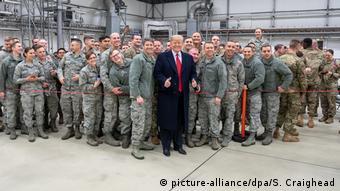 Donald Trump në bazën e Ramstein-it (2018)