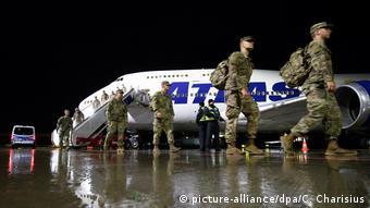Американские солдаты в Германи во время учений Defender-Europe 20