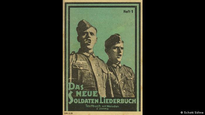 Titelblatt des Soldatenliederbuchs für die Nazis (Schott Söhne)