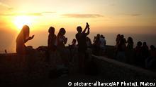 BdTD Palma de Mallorca Touristen bei Sonnenuntergang